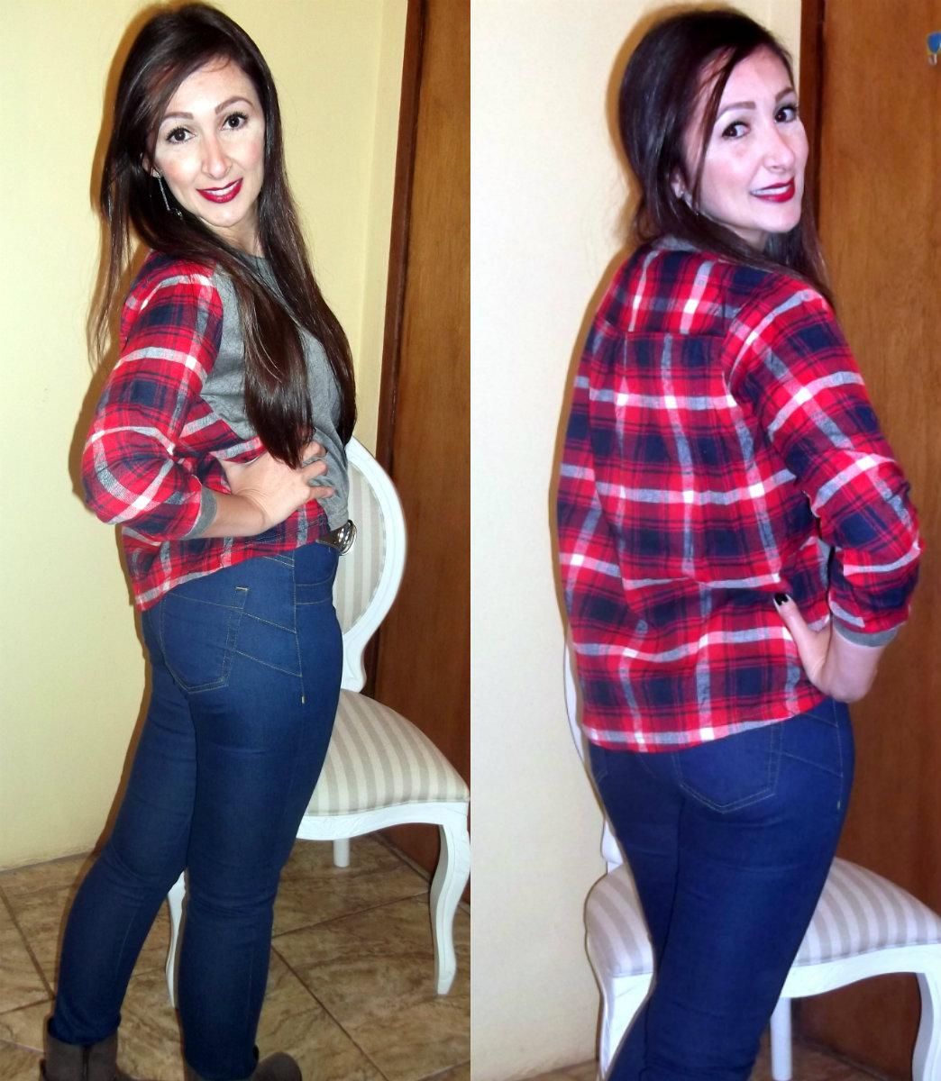 73a6b64f32528 Blusa AliExpress  (AQUI) Calça Jeans  For Free (cintura alta) Coturno  Via  Brevi