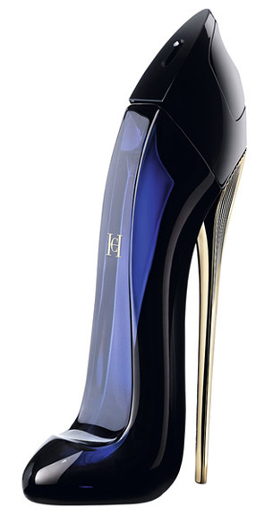 Good Girl Carolina Herrera perfume frasco salto agulha