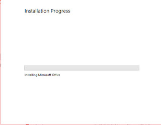 Wait for the ms office installation process