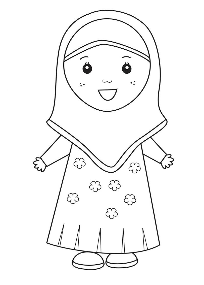 Muslim Family Coloring Page Ramadan For Kids Muslim Family