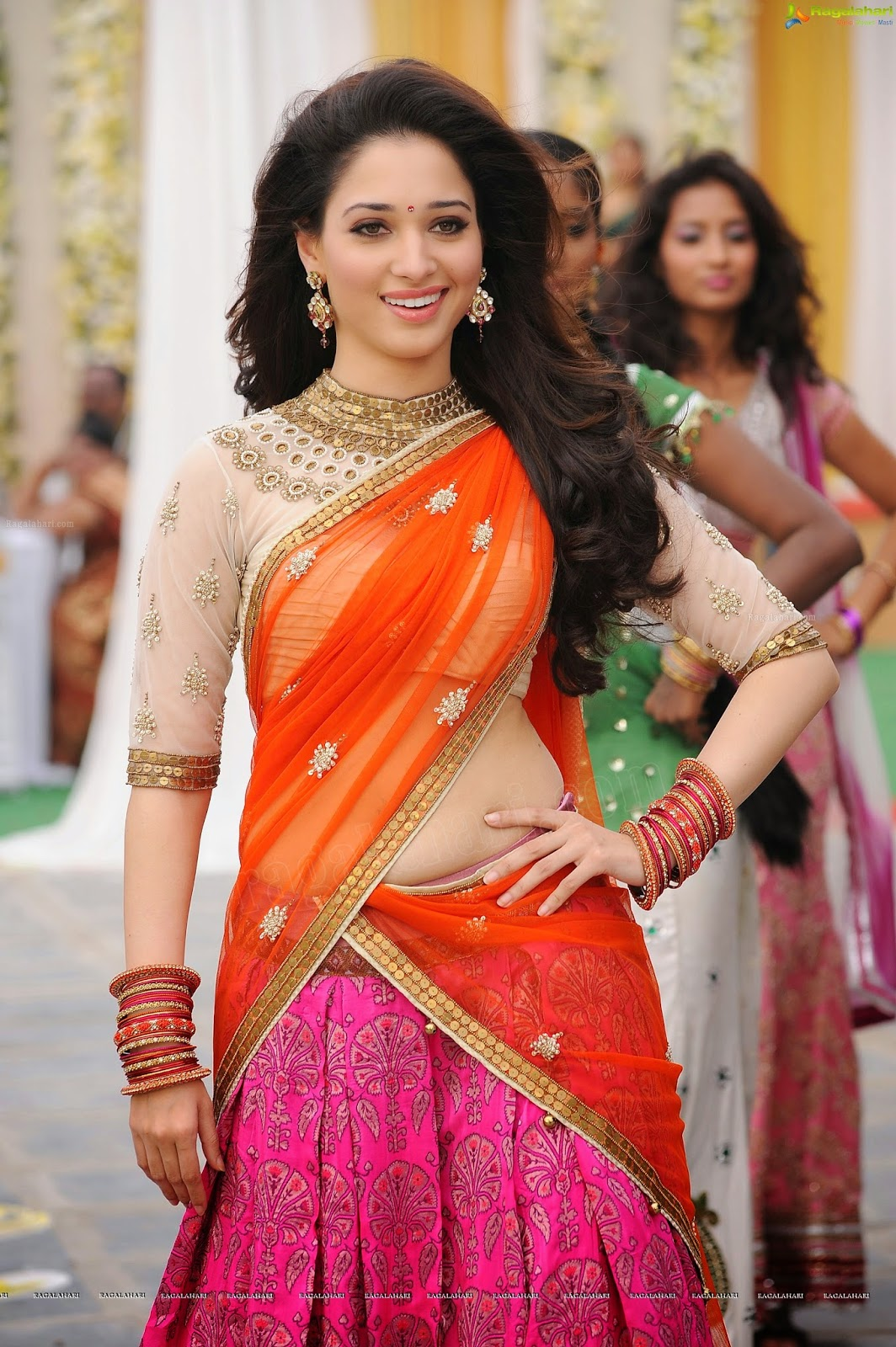 Tamanna Saree Gulte: OnLy AcTrEsS: Tamanna Navel Show Half Saree Photos At