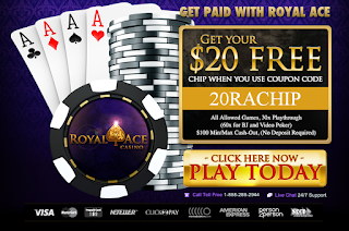 Royal Ace Casino $20 Free Chip