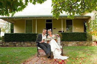 Wedding Couple in Tasma Gardens, Daylesford