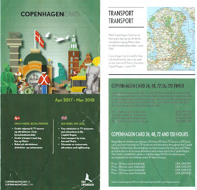 The Copenhagen Card brochure.