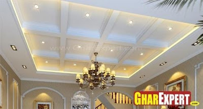 Plafon gypsum konsep drop ceiling
