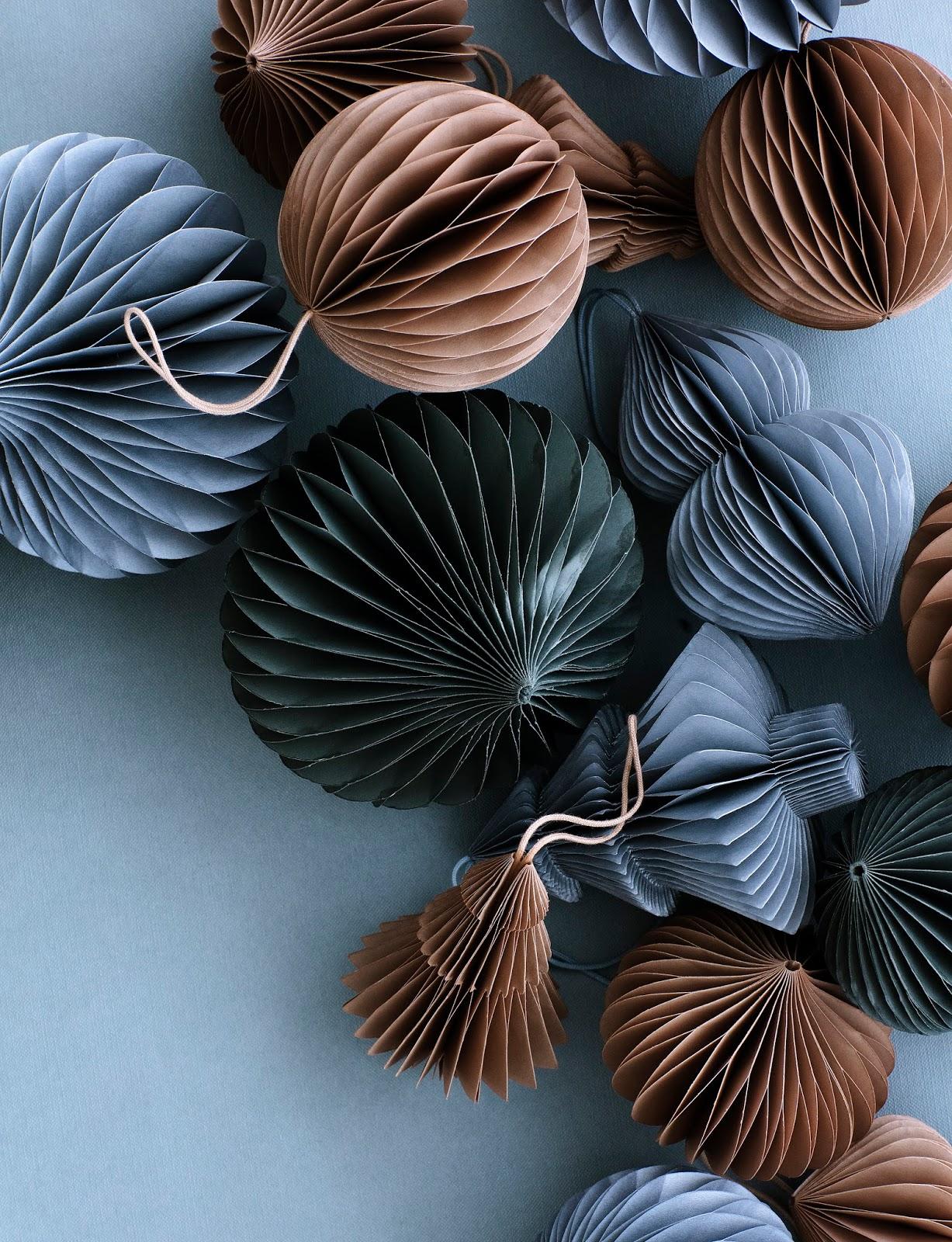 Bombki zrobione z papieru