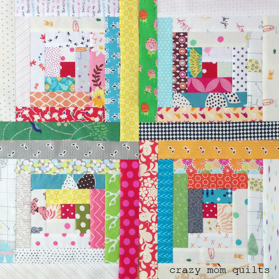 Free Traditional Quilting Patterns : crazy mom quilts: the start of a traditional log cabin quilt