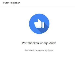 Pusat kebiijakan Google Adsense
