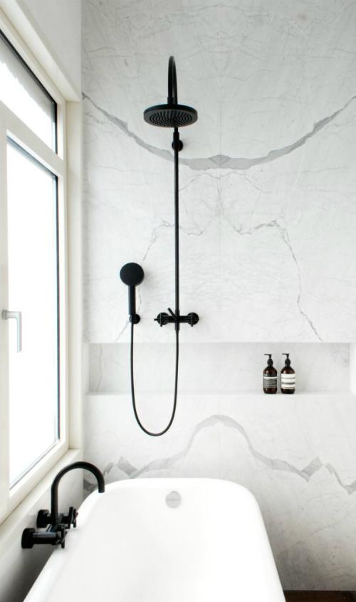 Tschüss, ihr ungeliebten Fliesen, willkommen Marmor - ein Bad wird sinnlich ...