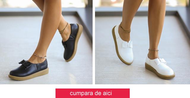 Pantofi casual dama la moda de vara ieftini online albi, negri