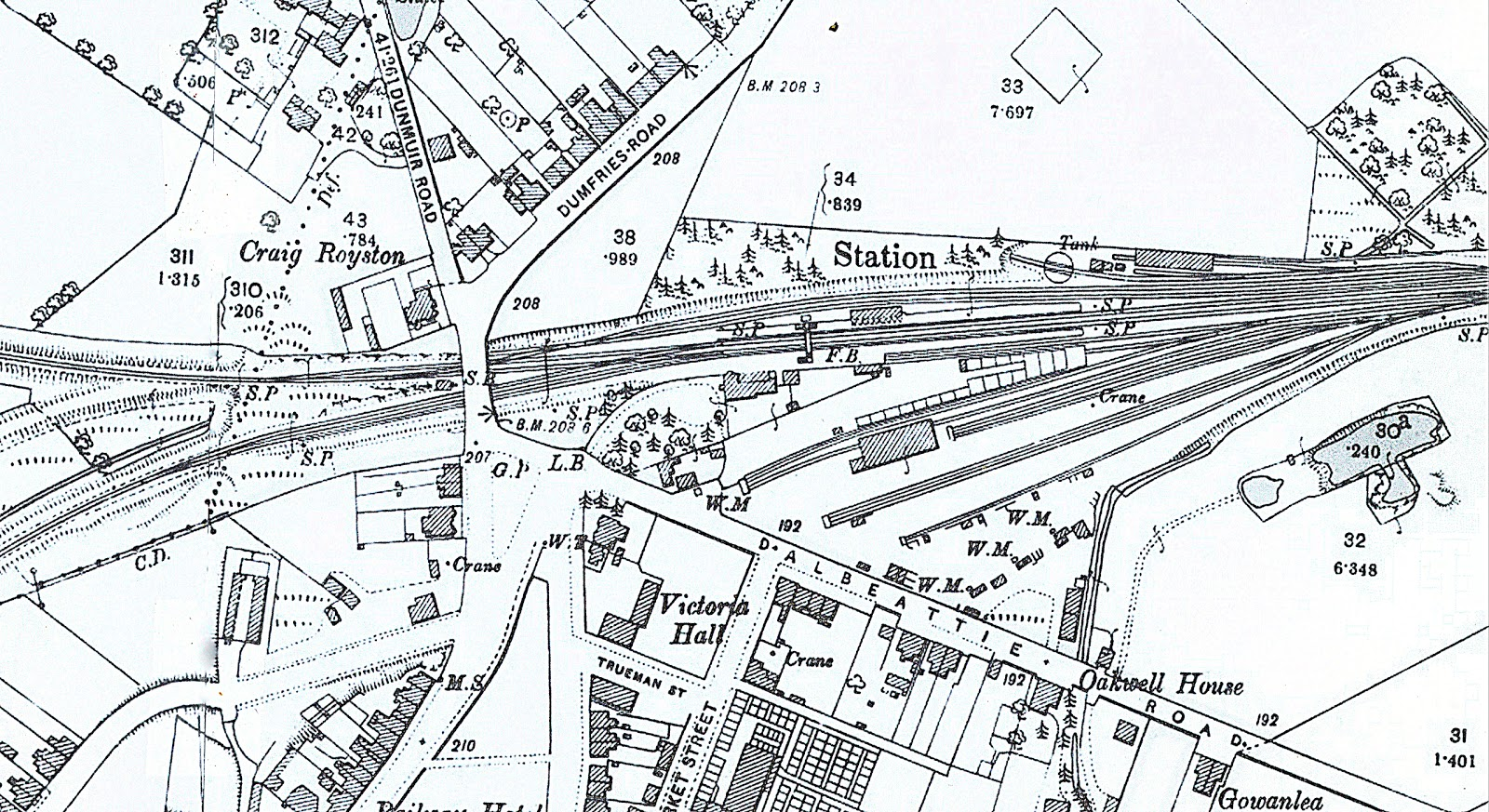 Last of the Westland Whigs: Castle Douglas station plan 1894