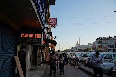 Jalan sore di New Delhi