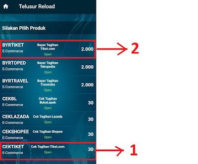 Cara Bayar Tiket Pesawat Tiket.com via Telusur Reload 2