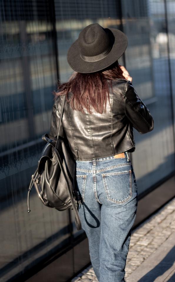 spodnie mom jeans Bershka stylizacja blog modowy