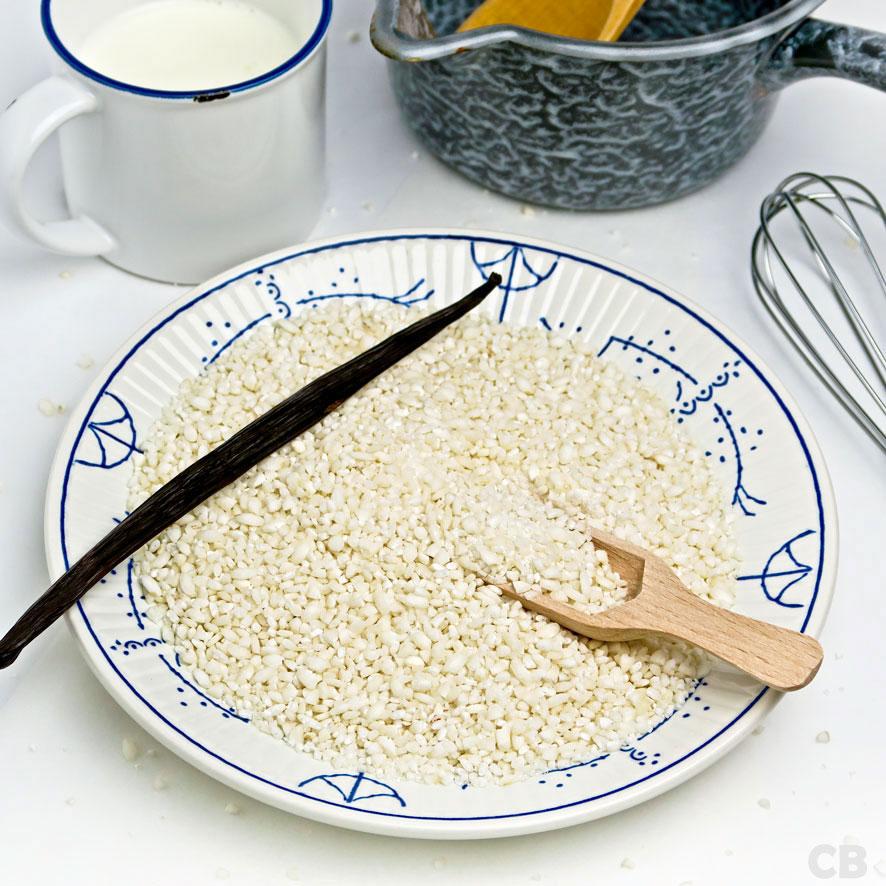 Culinaire Bagage Romig Rijstdessert Met Krokante Stukjes