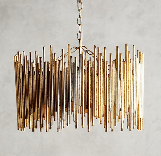 DIY Gold Chandelier Anthropologie hack 2