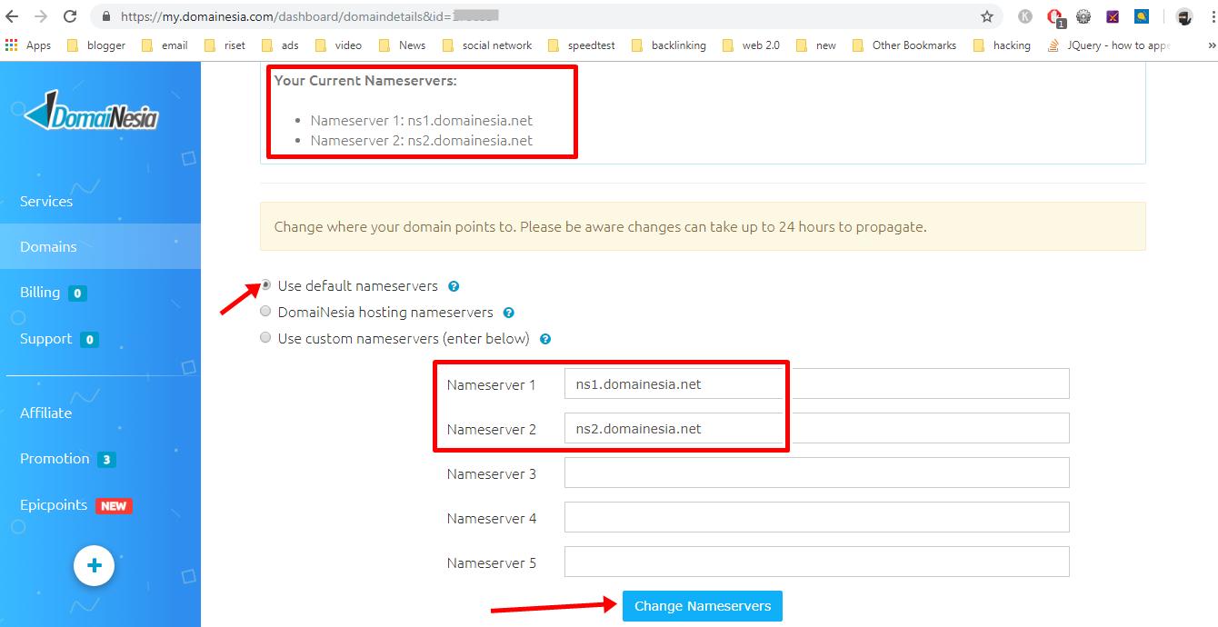 Cara Mudah Setting Custom Domain Tld Blogspot Blogger Di Domainesia
