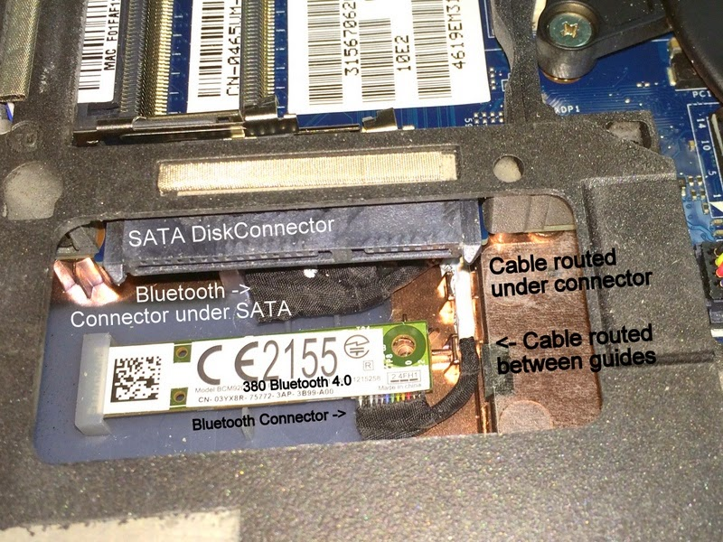Adding a Bluetooth adapter to a Dell E6430