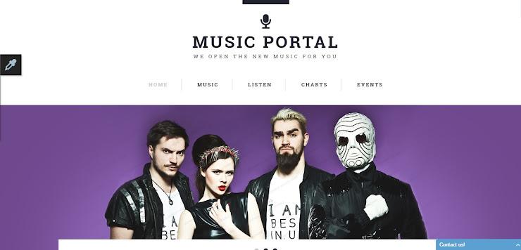 Plantilla Web Responsive para Sitio de Portal de Música