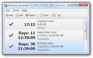 Windows Countdown Timer PC