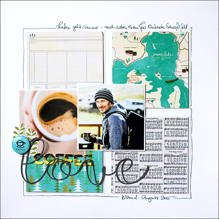 Stephanie Berger - Scrapbooking Layout- Coffee Lover