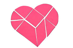 Heart Tangram- Such a fun way to celebrate Valentine's Day with math!