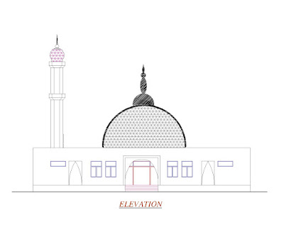 Elevation of the Grand Mosque
