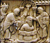 The Life of Saint Remy and the  Baptism of Clovis (Detail)