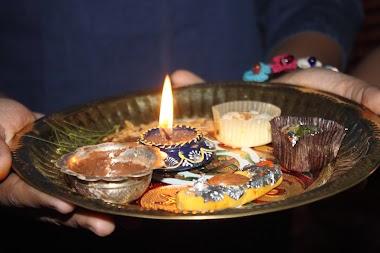 The Festival of Bhai Dooj in Kathmandu in Nepal