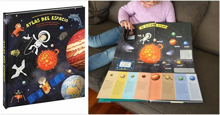 cuentos infantiles, libros conocimientos informativos atlas del espacio