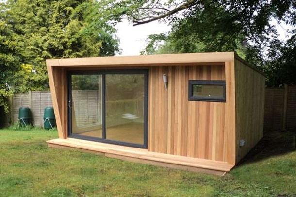 Маленький садовый домик-офис