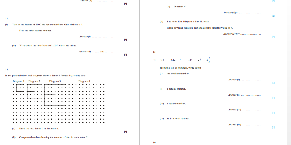 CIE Mathematics: IGCSE Number and Set Language Worksheet