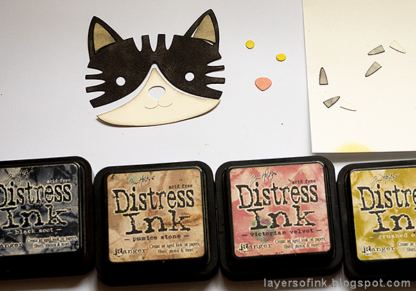 Layers of ink - Vintage Kitten Art Journal Page Tutorial by Anna-Karin Evaldsson with SSS STAMPtember Big Picture Book Kitty