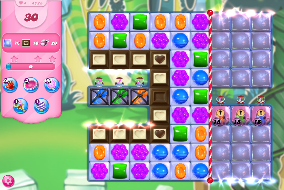 Candy Crush Saga level 4125
