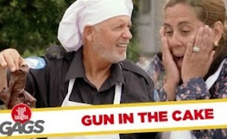 Funny Video – Gun Falls in Chocolate Cake Batter Prank