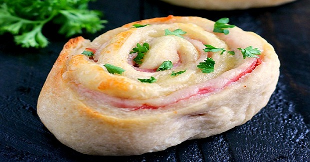 Baked Ham And Cheese Roll-Ups Recipe