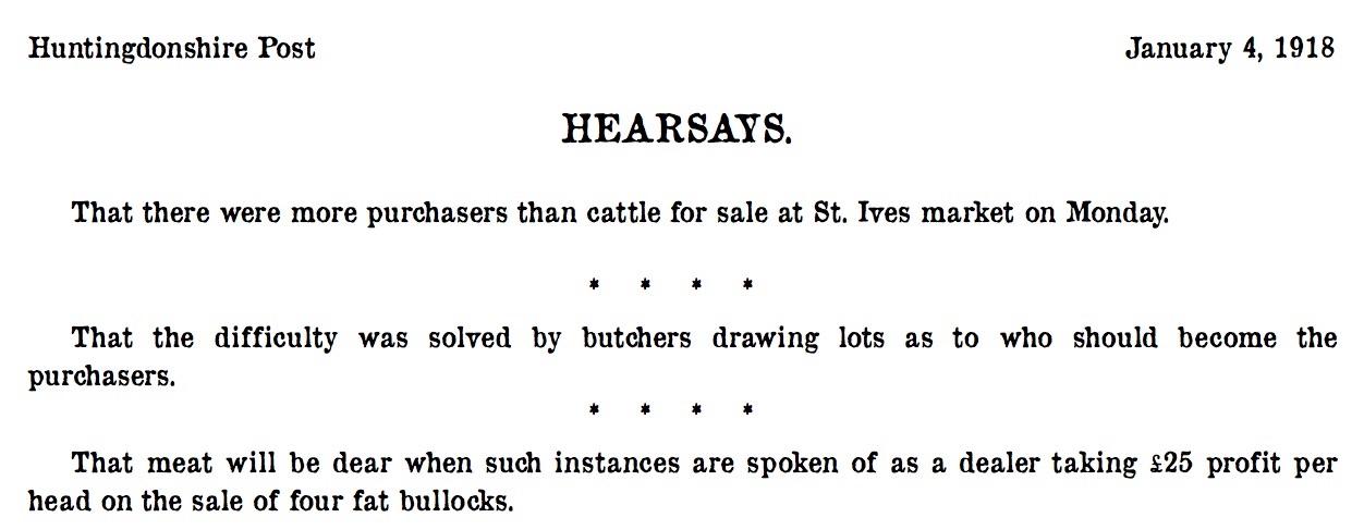 St Ives 4 January 1918