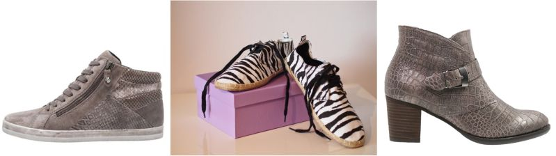 Schuhe mit Animalprints und -prägungen