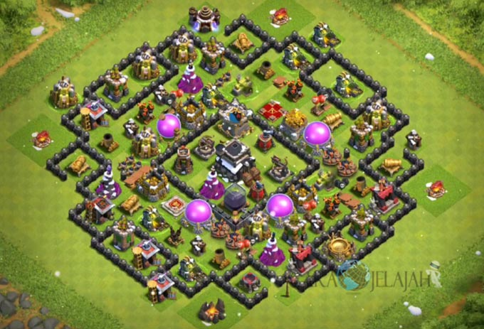 Base Trophy TH 9 COC Update Bomb Tower Terbaru 2017 Tipe 16
