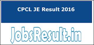 CPCL JE Result 2016