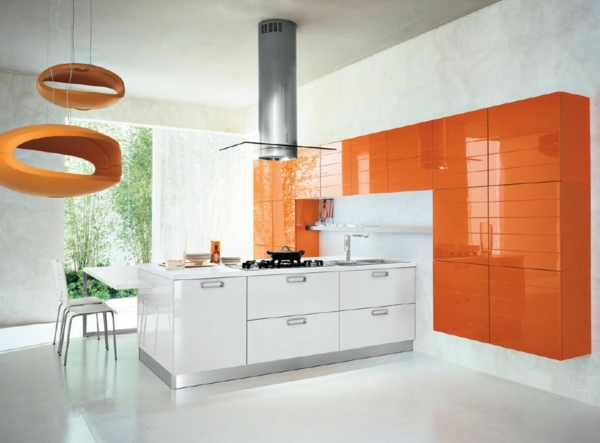 Fotos de cocinas naranjas colores en casa - Cocinas naranjas y blancas ...