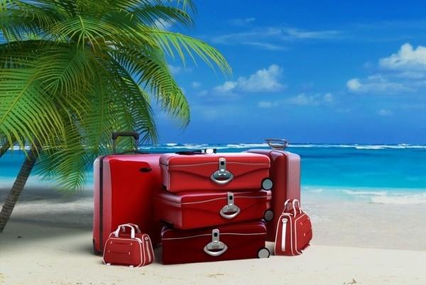 Des bagages pour des vols aux Antilles