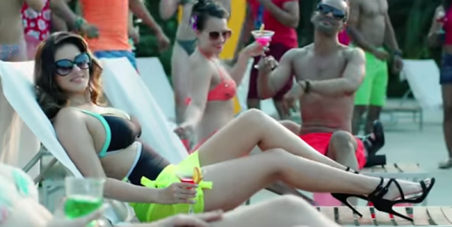 Sunny Leone sizzles in the song Mere Peeche Hindustan from Beiimaan Love.