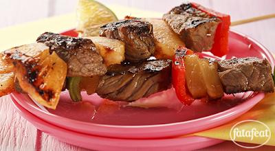 ستيك اللحم المشوي بالأناناس