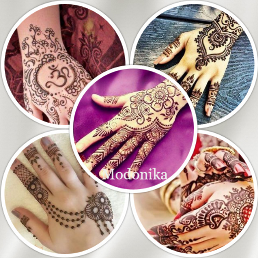 latest mehendi designs for palm upper side of hands