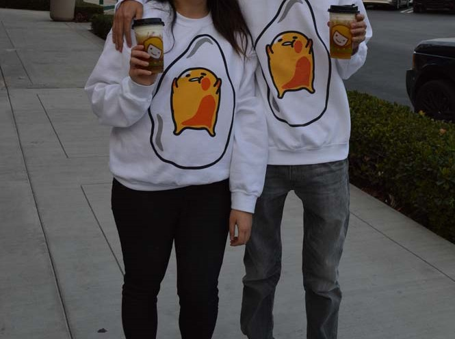 Eat With Me & Match With Me In Gudetama Couple Tees