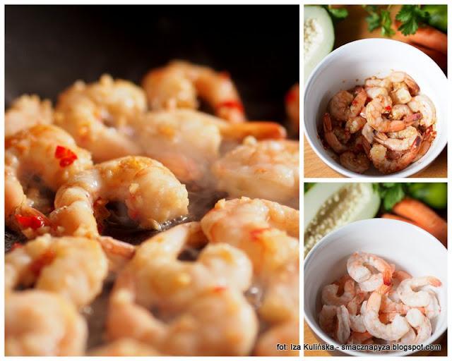 salatka z krewetkami, afrodyzjak, owoce morza, kuchnia milosci, food pairing, salatka afrodyty, warsztaty kulinarne