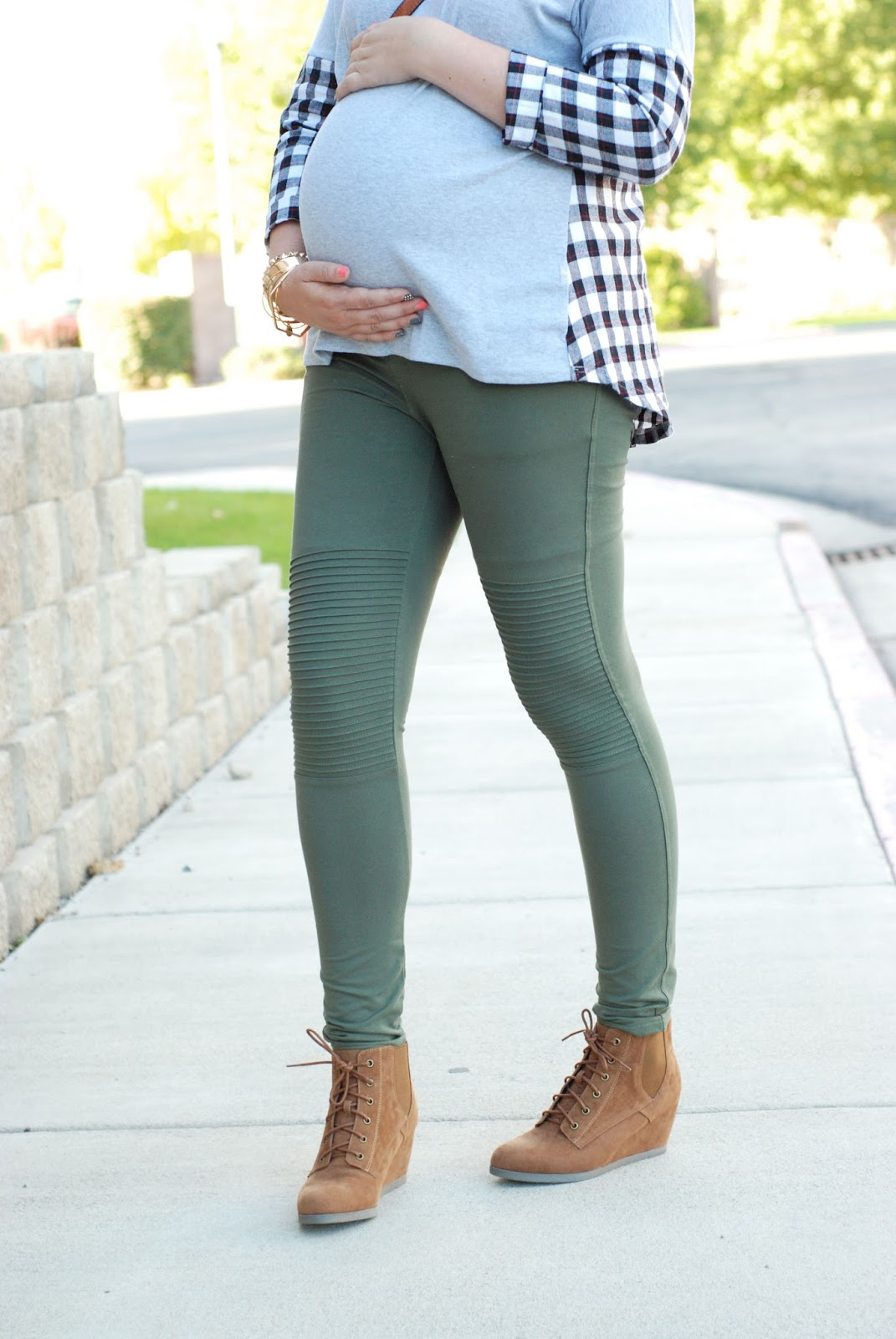 Green Leggings, ASOS Maternity