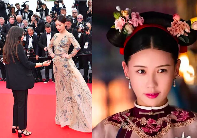 story of yanxi palace actress shi yufei cannes