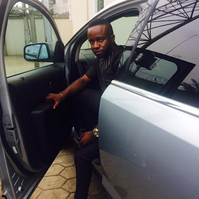 """""""I Started With A Borrowed Laptop"""" -  Internet Marketer Ifiok Nkem Flaunts His Multi-Million Ford EDGE Car"""